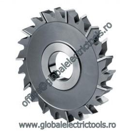 Disc cutter with three teeth cut zig zag 125 X 4 X 32
